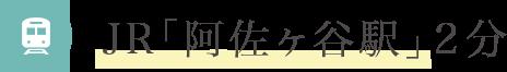 JR阿佐ヶ谷駅2分